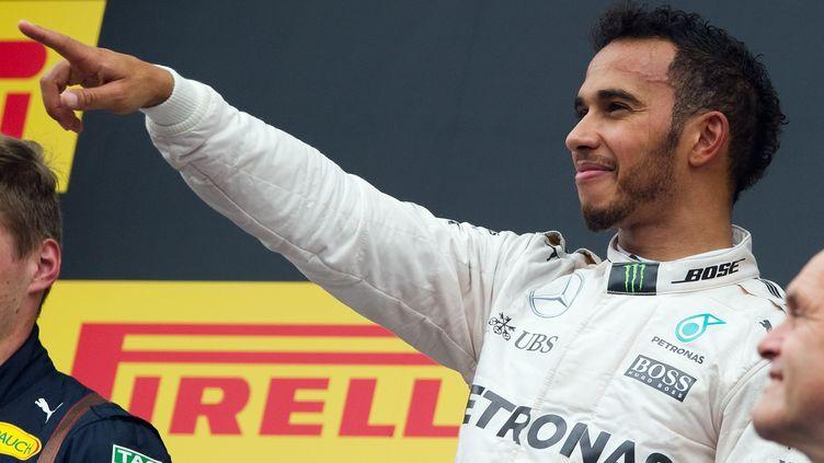Lewis Hamilton, le 3 juillet 2016, à Spielberg (Autriche). (SAMUEL KUBANI / AFP)