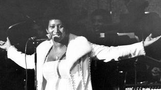 La reine de la soul music Aretha Franklin, le 1er janvier 1968.  (Michael Ochs Archives / Getty Images)