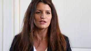 La secrétaire d'Etat à l'égalité femmes-hommes, Marlène Schiappa, à Versailles (Yvelines), le 16 février 2018. (LUDOVIC MARIN / AFP)