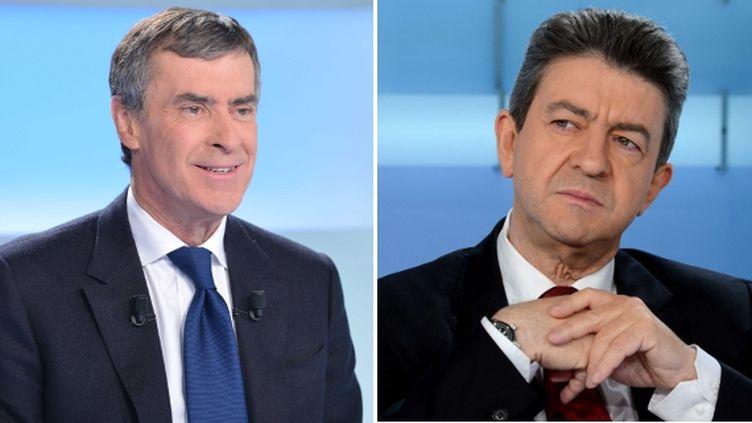 """Jérôme Cahuzac et Jean-Luc Mélenchon sont les invités de """"Mots croisés"""" sur France 2, le 7 janvier 2013 à 22h55. (SIPA)"""