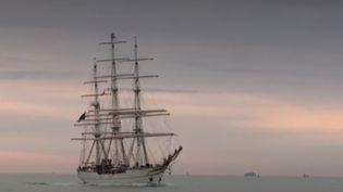 """À l'Armada de Rouen, en Seine-Maritime, le """"Shabab Oman II"""", navire du sultanat d'Oman qui fait sa première apparition, est une attraction un peu particulière. (FRANCE 3)"""
