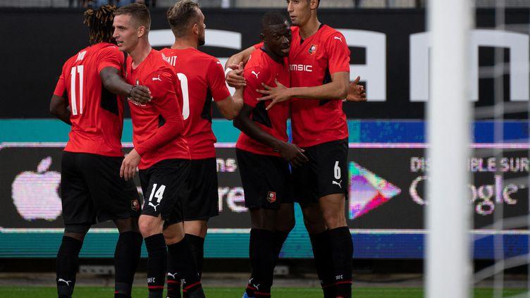Le Stade Rennais a pris une option face à Rosenborg. (LOIC VENANCE / AFP)