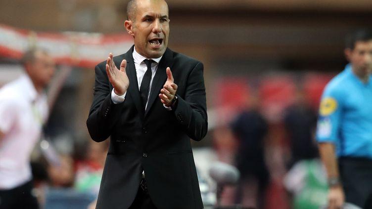 Leonardo Jardim, le 21 septembre 2018 au stade Louis-II. (VALERY HACHE / AFP)