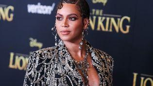 """La chanteuse Beyoncé Knowles lors de l'avant-première mondiale du """"Roi lion"""" le 9 juillet 2019 à Los Angeles. (IMAGE PRESS AGENCY / NURPHOTO / AFP)"""