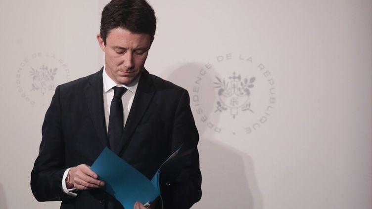 Benjamin Griveaux, alors porte-parole du gouvernement, lors d'une conférence de presse à l'Elysée, à Paris, le 6 mars 2019. (LUDOVIC MARIN / AFP)