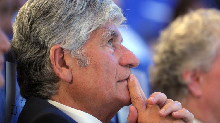 Le patron de Publicis, Maurice Lévy, le 5 juin 2014 à Caen (Calvados). (ERIC PIERMONT / AFP)