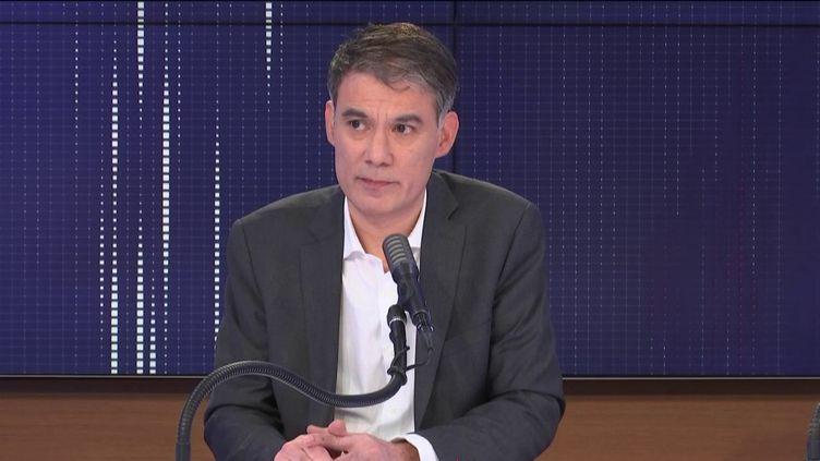Olivier Faure, premier secrétaire du Parti socialiste. (FRANCEINFO / RADIO FRANCE)