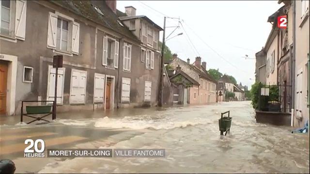 Inondations : Moret-sur-Loing s'est transformée en ville fantôme