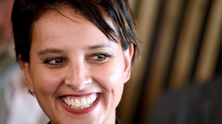 Najat Vallaud-Belkacem la ministre de l'Education nationale (JEAN PIERRE CLATOT / AFP)