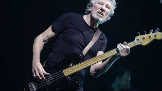 Roger Waters, ancien bassiste de Pink Floyd, sur scène en solo à Assago près de Milan (Italie) le 18 avril 2018. (LUCA BRUNO / AP /  SIPA / AP)