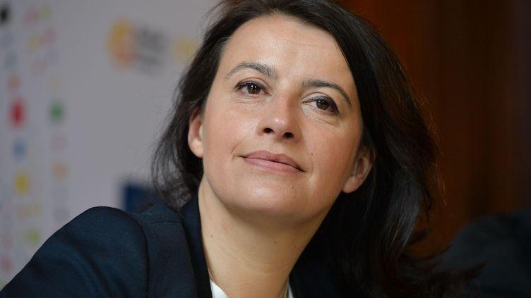 Cécile Duflot lorsqu'elle était encore ministre du Logement, en mars 2014. (ISA HARSIN / SIPA)