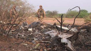 (L'armée française a publié des photos de la zone du crash © MAXPPP / EPA)