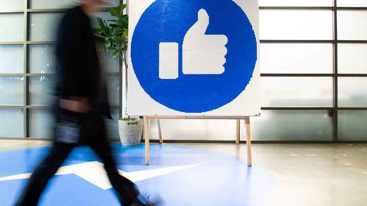 Le siège de l'entreprise Facebook basé en Californie (Etats-Unis), le 23 octobre 2019. (JOSH EDELSON / AFP)