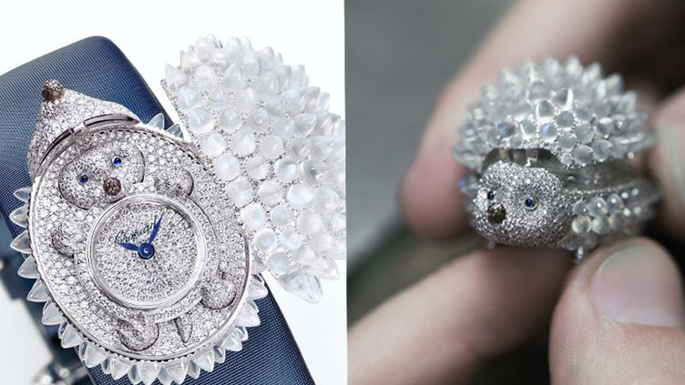 Chopard haute joaillerie : montre à secret en diamants sous un hérisson.  (Chopard Joaillerie)