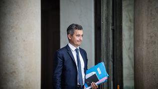 Le ministre de l'Intérieur Gérald Darmanin, à la sortie du Conseil des ministres, le 7 juillet 2021 à Paris. (ARTHUR NICHOLAS ORCHARD / HANS LUCAS / AFP)