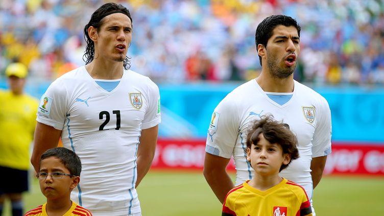 Edinson Cavani et Luis Suarez sont tous deux suspendus pour le début de la campagne de qualification de l'Uruguay au Mondial 2018. (KIERAN MCMANUS / BACKPAGE IMAGES LTD)