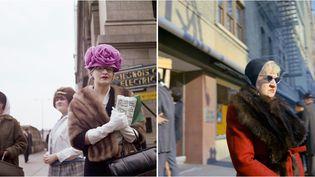 "Vivian Maier : à gauche ""Chicago"", 1962, à droite ""Milwaukee, MI"", 1967  (Estate of Vivian Maier, Courtesy Maloof Collection and Howard Greenberg Gallery, New York, Les Douches la Galerie, Paris)"