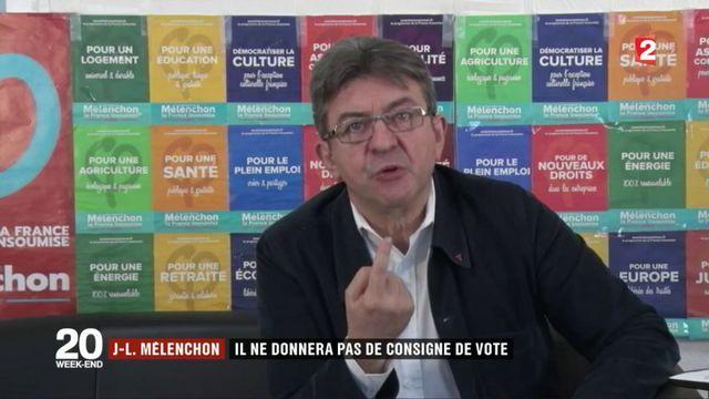Jean-Luc Mélenchon : il ne donnera pas de consigne de vote pour le second tour