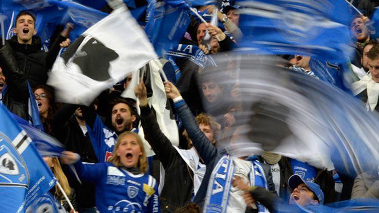 Tout le virage Sud du Stade de France était aux couleurs du Sporting de Bastia