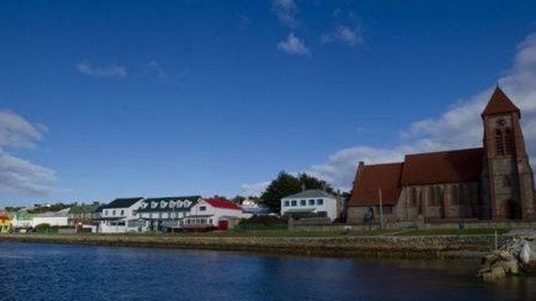 Vue de port Stanley, la capitale des îles Falklands (AFP/Martin Bernetti)