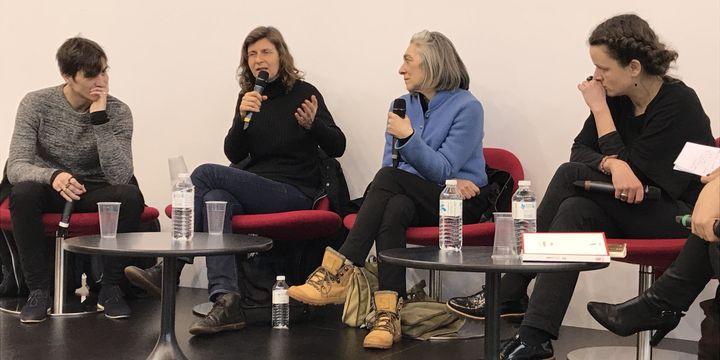 David Lopez, Olivia Rosenthal, Nicole Caligaris, Lucie Desaubliaux au Salon Livre Paris le 19 mars 2018