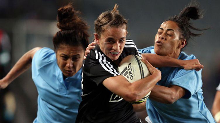 Selica Winiata était en jambes cet après-midi, à l'image de toute l'équipe néo-zélandaise, grande favorite du tournoi. (MICHAEL BRADLEY / AFP)