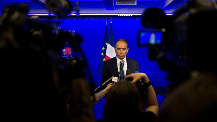 Le président de l'UMP, Jean-François Copé, le 25 mai 2014 au siège de son parti, à Paris. (FRED DUFOUR / AFP)