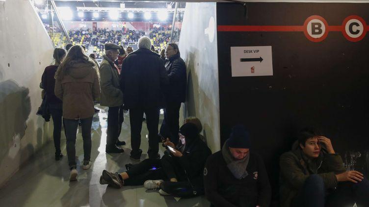 Les spectateurs du Rhenus contraints de rester dans la salle au moment des attentats au marché de Noël de Strasbourg le 11 décembre 2018 (JEAN-FRANCOIS BADIAS/AP/SIPA / AP)