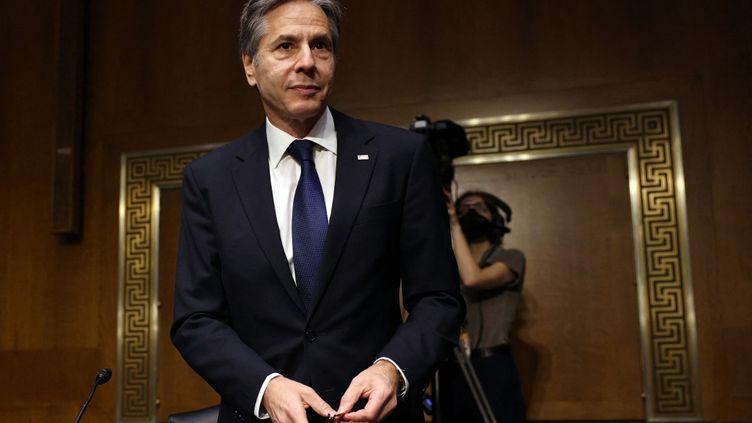 Le secrétaire d'Etat américain Anthony Blinken, le 8 juin 2021 à Washington (Etats-Unis). (KEVIN DIETSCH / GETTY IMAGES NORTH AMERICA / AFP)