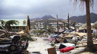 Paysage de désolation à Saint-Martin après le passage d'Irma (DR)