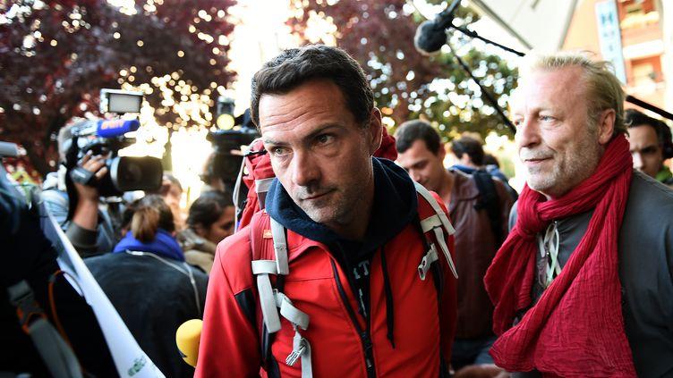 L'ex-trader Jérôme Kerviel, le 18 mai 2014 àVintimille (Italie). (ANNE-CHRISTINE POUJOULAT / AFP)