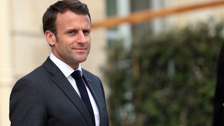 Emmanuel Macron, le 12 avril 2019 à Paris. (MUSTAFA YALCIN / ANADOLU AGENCY / AFP)