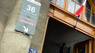 La devanture de l'ancien siège de la police judiciaire parisienne, le 36, quai des Orfèvres, le 6 août 2014. (BERTRAND GUAY / AFP)