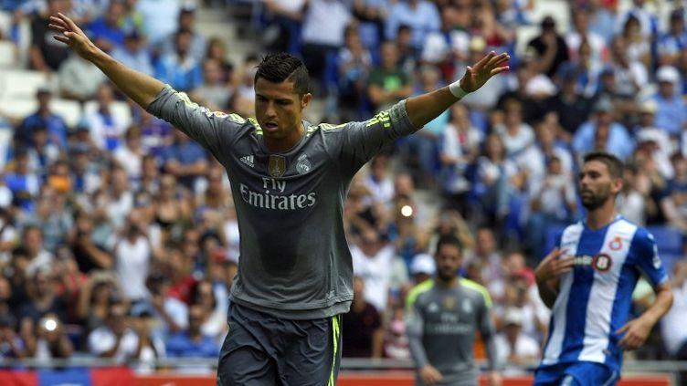 Cristiano Ronaldo est devenu le meilleur buteur du Real Madrid grâce à un quintuplé contre l'Espanyol (LLUIS GENE / AFP)
