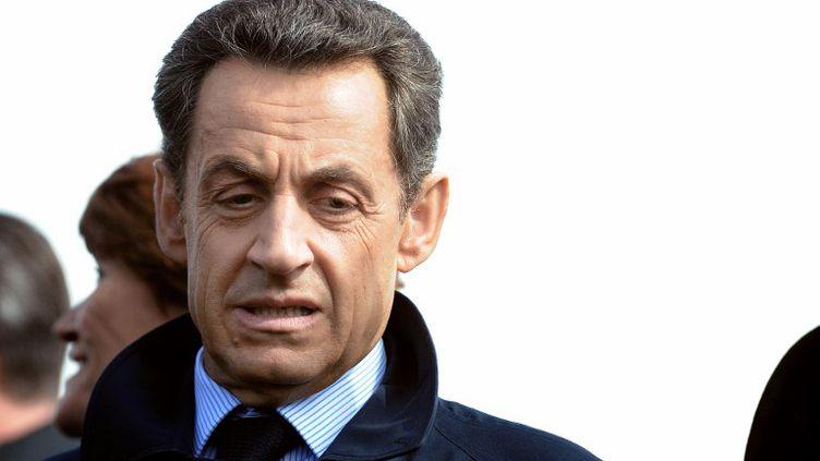 Nicolas Sarkozy, le 23 avril 2012 à Vouvray (Indre-et-Loire). (ALAIN JOCARD / AFP)