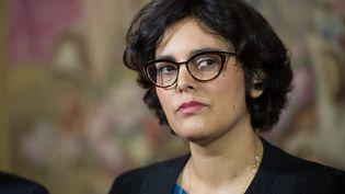 Myriam El-Khomri, ministre du Travail le 11 avril 2016, àChamussy (Côte-d'Or) (CHAMUSSY / SIPA)