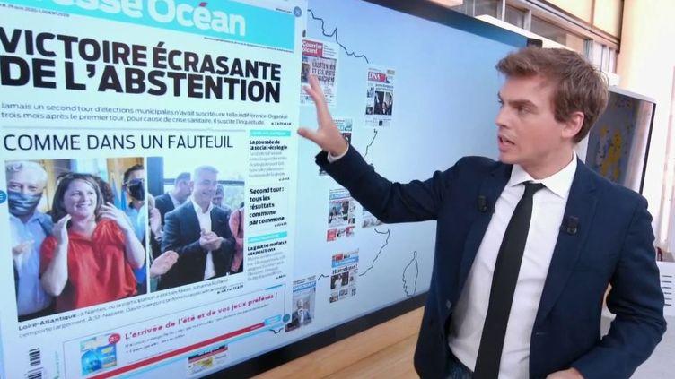 Élections municipales : la revue de presse du 13 Heures (CAPTURE D'ÉCRAN FRANCE 2)