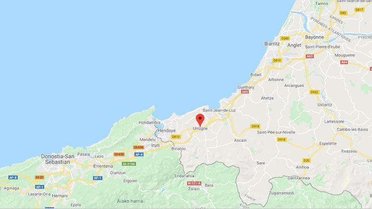 Urrugne (Pyrénées-Atlantiques). (CAPTURE D'ECRAN GOOGLE MAPS)