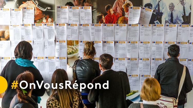 #OnVousRépond : posez vos questions sur les dispositifs d'aide à l'emploi et le marché du travail. (PHILIPPE HUGUEN / AFP)