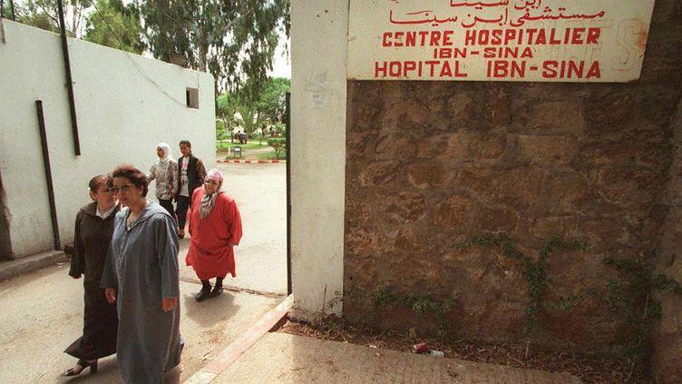 Vue de l'extérieur de l'hôpital Ibn-Sina de Rabat le 28 juin 1997 (ABDELHAK SENNA / AFP)
