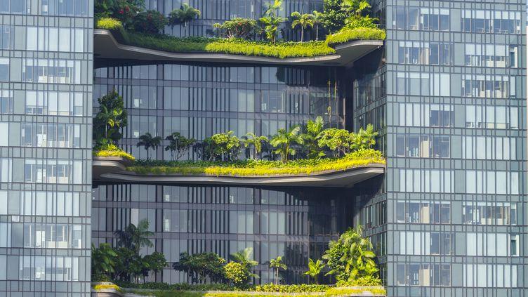 Un hôtel futuriste à Singapour. (GETTY IMAGES)