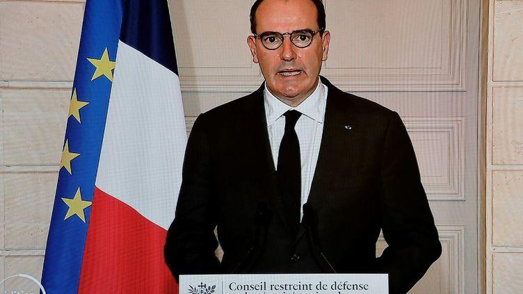 Le Premier ministre, Jean Castex, le 29 janvier 2021 à l'Elysée. (LUDOVIC MARIN / AFP)