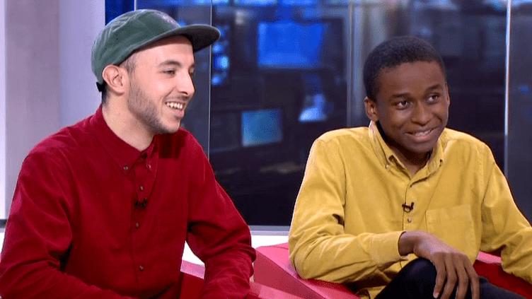 Mehdi Meklat et BadrouSaïd Abdallah sur le plateau du 13H de France 2  (Culturebox)