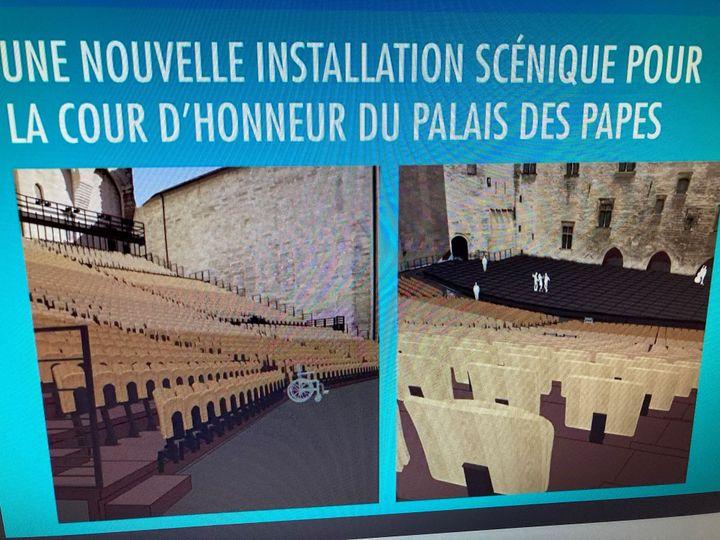 La nouvelle cour du Palais des papes (Capture d'écran)