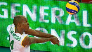 Nathan Wounembaina sous le maillot du Cameroun
