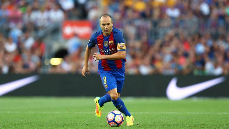 Le capitaine barcelonais Andres Iniesta (MANUEL BLONDEAU / AOP PRESS)