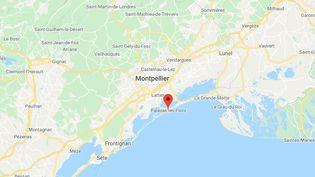 La commune de Palavas-les-Flots dans l'Hérault. (GOOGLE MAPS / FRANCETV INFO)