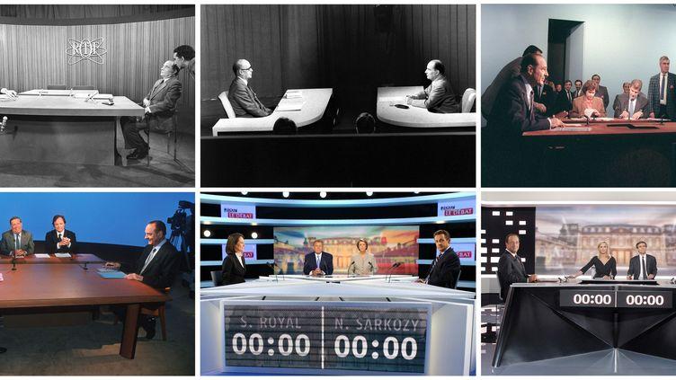 Les six débats télévisés lors del'entre-deux-tours de l'élection présidentielle. (AFP)