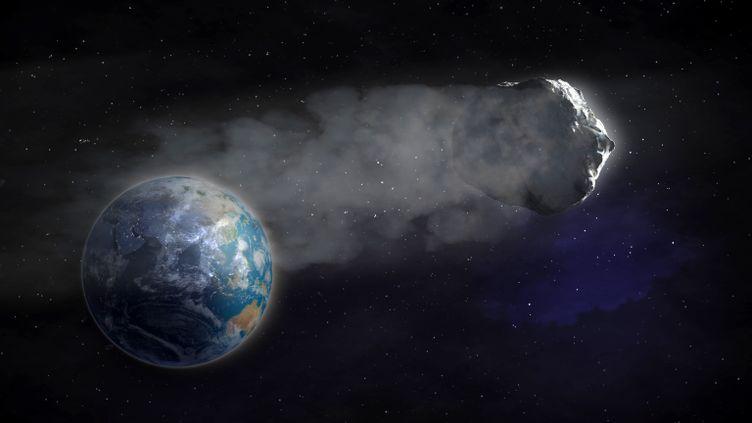 Un temps identifié comme un astéroïde, l'objet WT1190F serait en fait un débrisde fusée. (AWO / AFP)