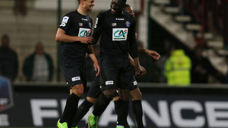 Nill de Pauw avait marqué contre Quevilly au tour précédent. (CHARLY TRIBALLEAU / AFP)